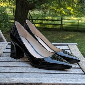 Marc Fisher LTD Zala Pump in Black Patent Leather